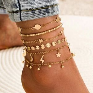 SIX Layer Gold Anklet! NEW!